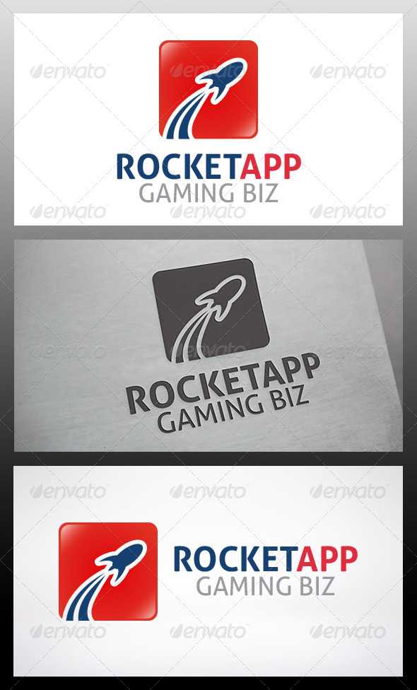 GraphicRiver Rocket App Logo 6199754