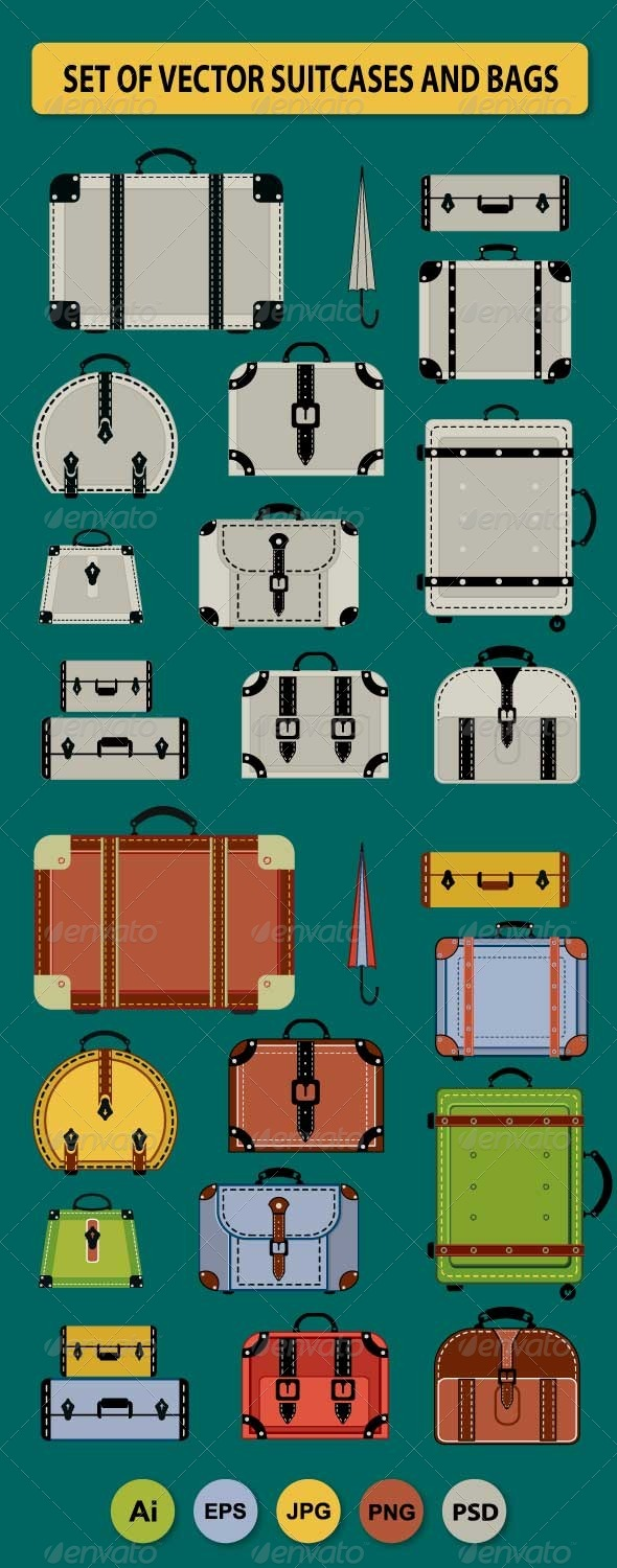 GraphicRiver Travel Bags and Suitcases 6199932