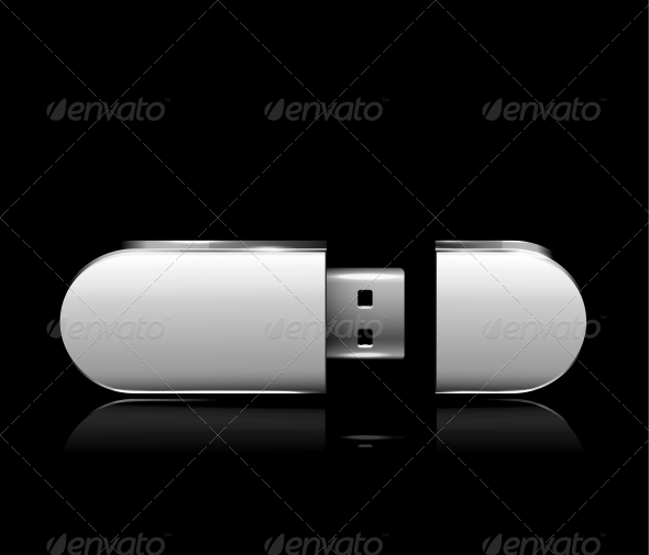GraphicRiver Usb Flash Drive Gray 6199972