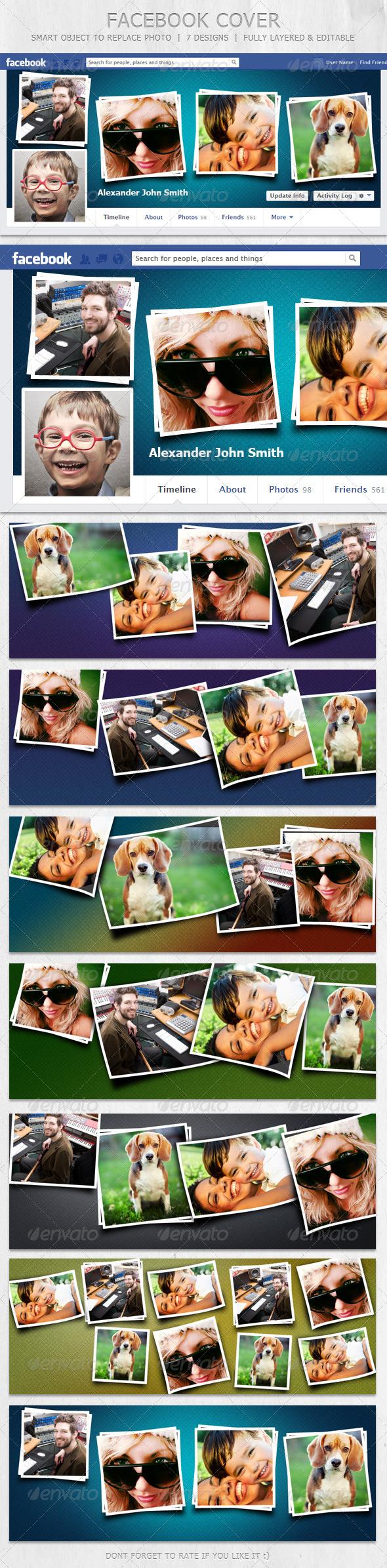 GraphicRiver FB Cover 7 Designs 6199981