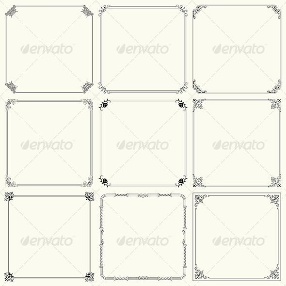 GraphicRiver Decorative Frames 6200143
