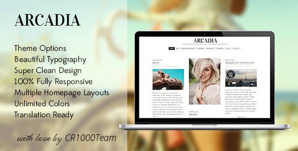 ThemeForest Arcadia Responsive WordPress Blog Theme 6200400