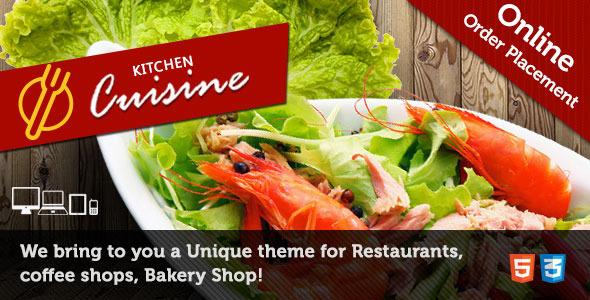 ThemeForest Kitchen Cuisine Restaurants & Cafe HTML Template 6200411