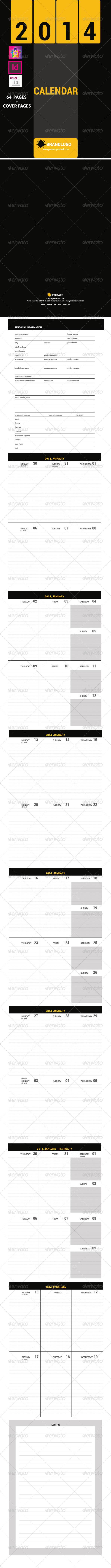 GraphicRiver 2014 Calendar Organizer Template 6200435
