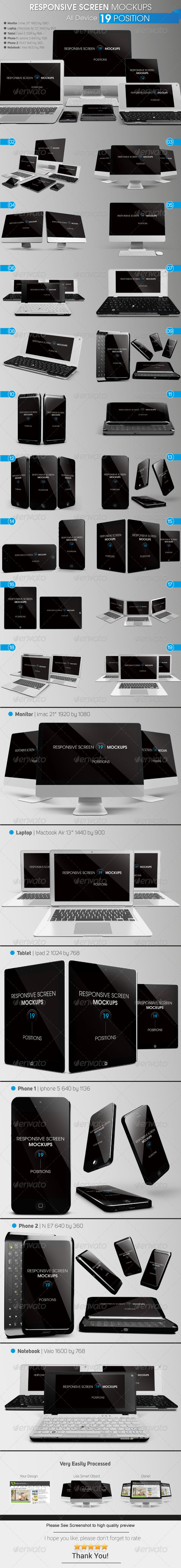 GraphicRiver Responsive Screen Mockups 6200445