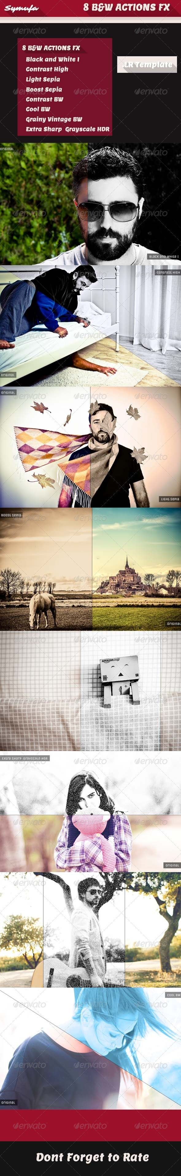 GraphicRiver B&W Actions FX 6200778