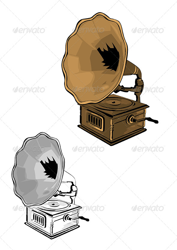 GraphicRiver Gramophone Vector Illustration 6200973