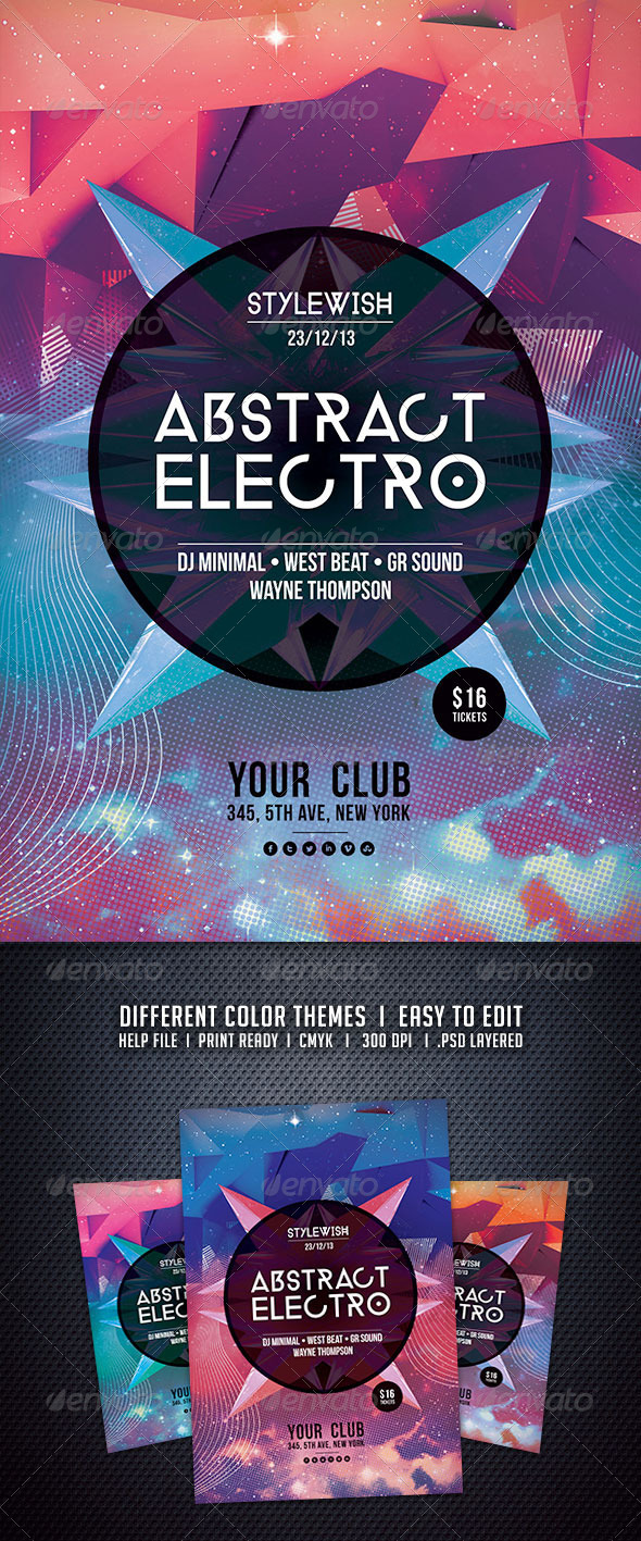 GraphicRiver Abstract Electro Flyer 6200986