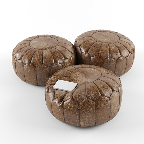 3DOcean Moroccan leather pouffe 6200999