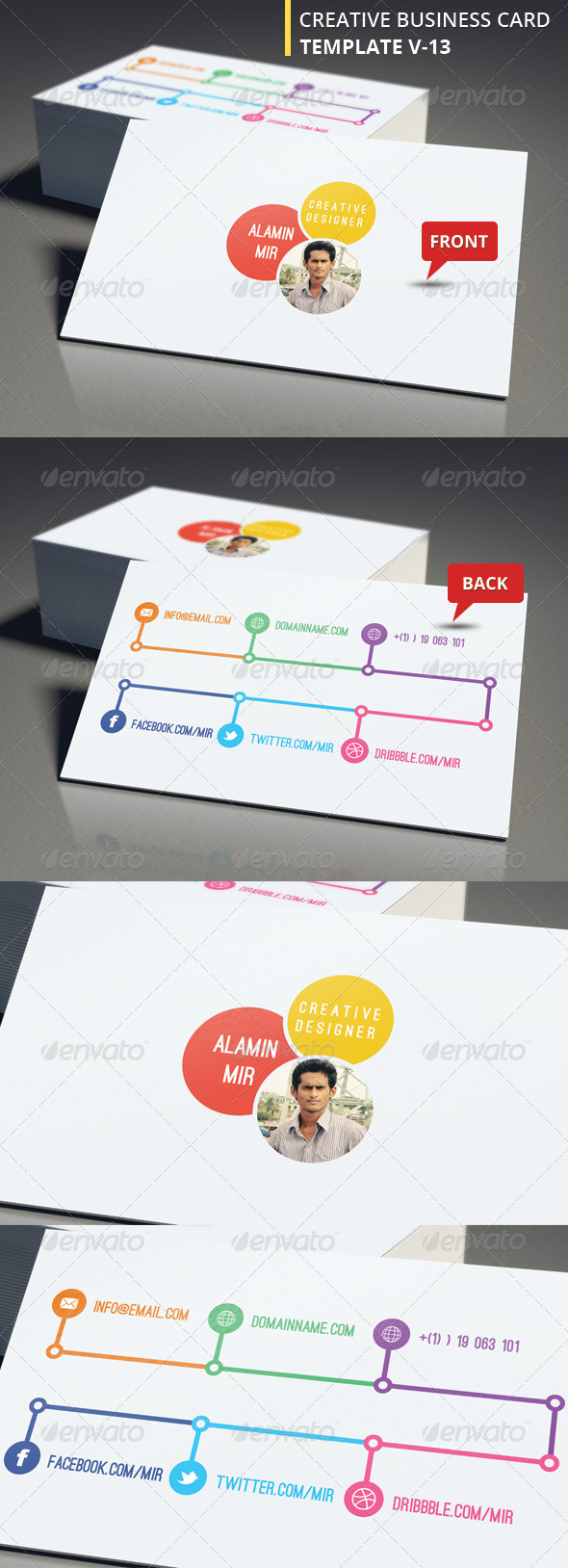 GraphicRiver Creative Business Card V 13 6201014