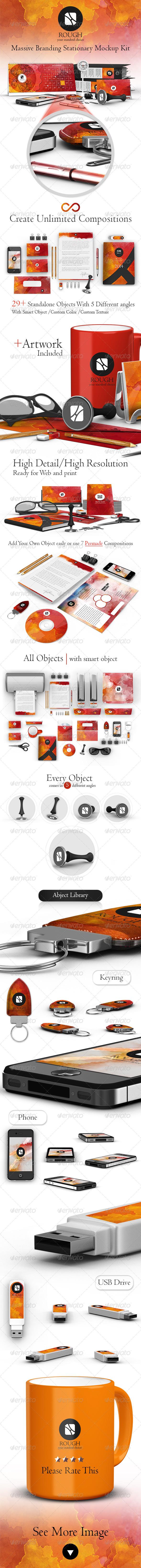 GraphicRiver Rough Massive Branding Stationary Kit 6122007