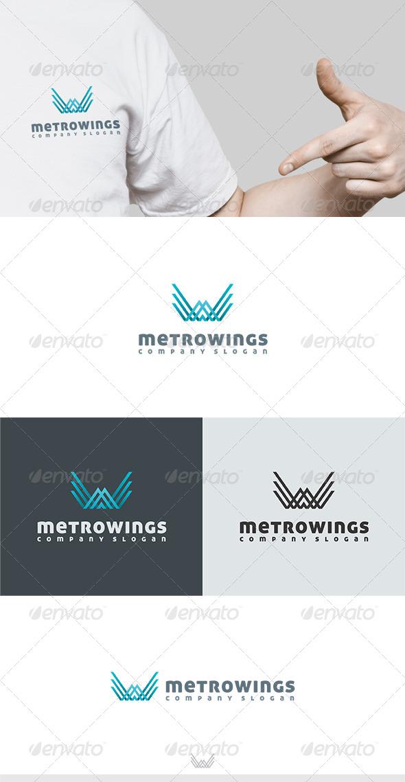 GraphicRiver Metro Wings Logo 6201128
