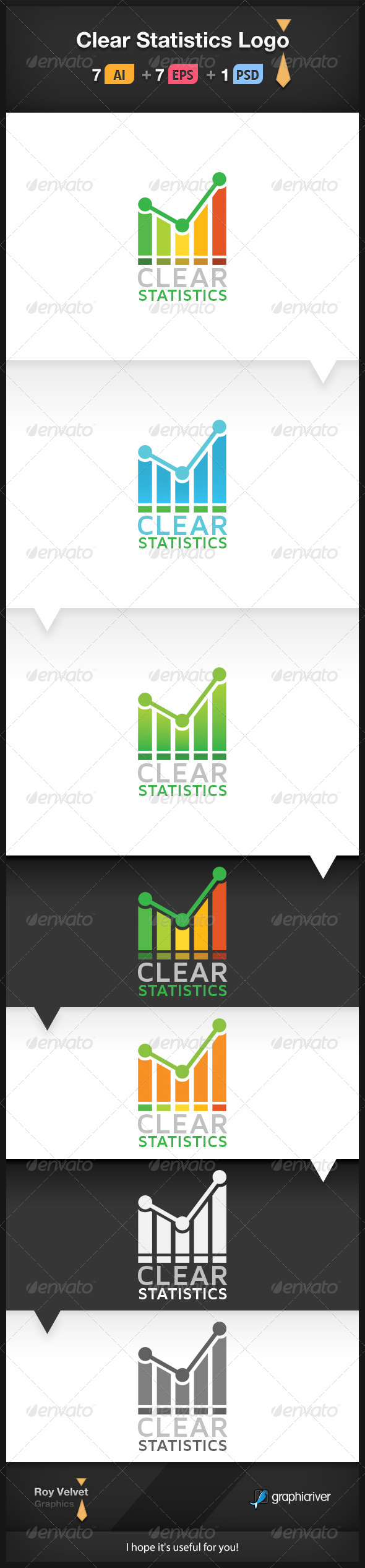 GraphicRiver Clear Statistics Logo 6198606