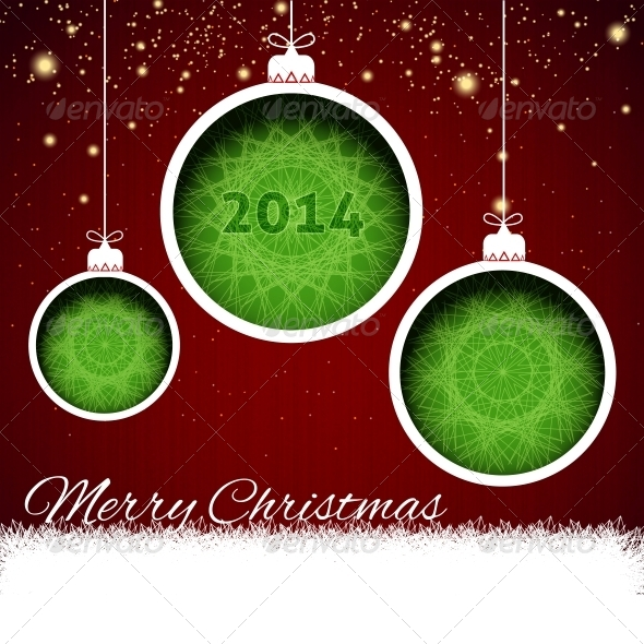 Merry Christmas Balls Paper