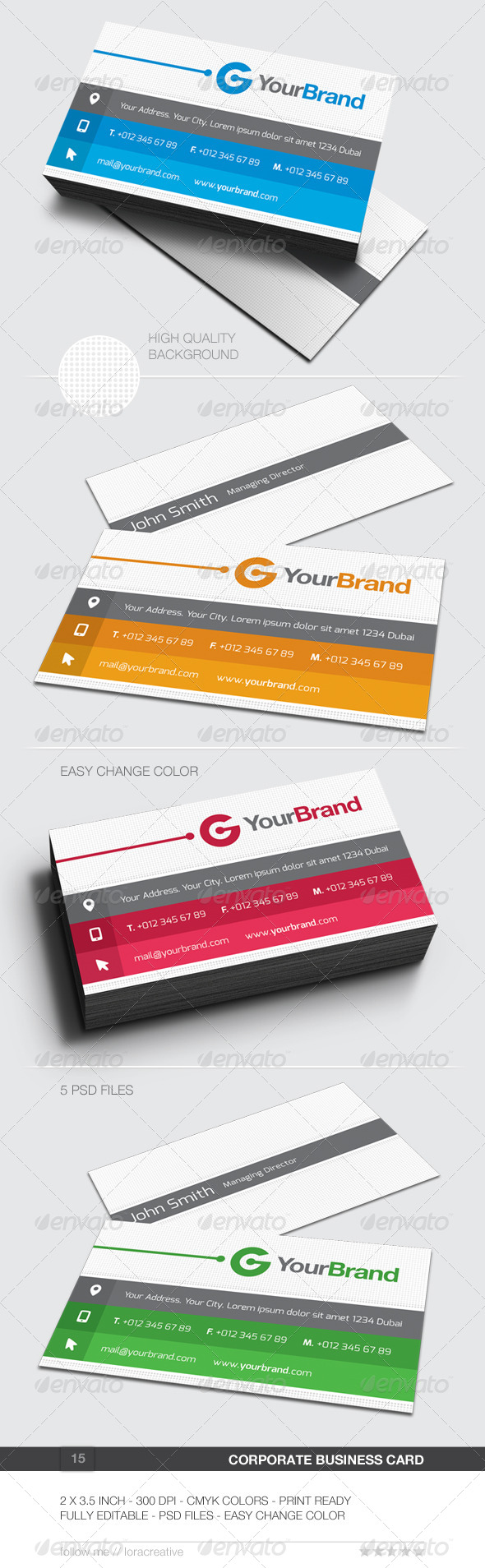 GraphicRiver Corporate Business Card 15 6201980