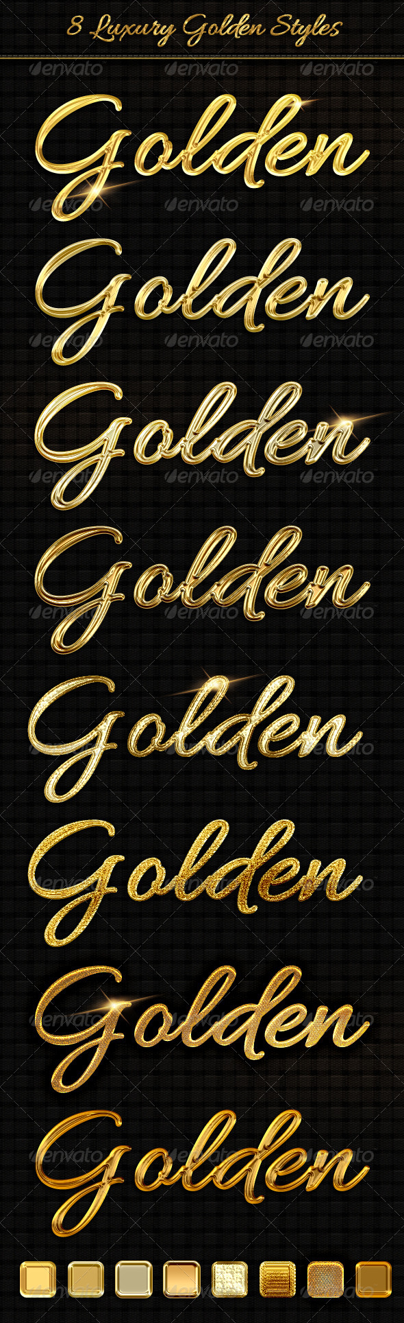 8 Luxury Golden Text Styles - Text Effects Styles