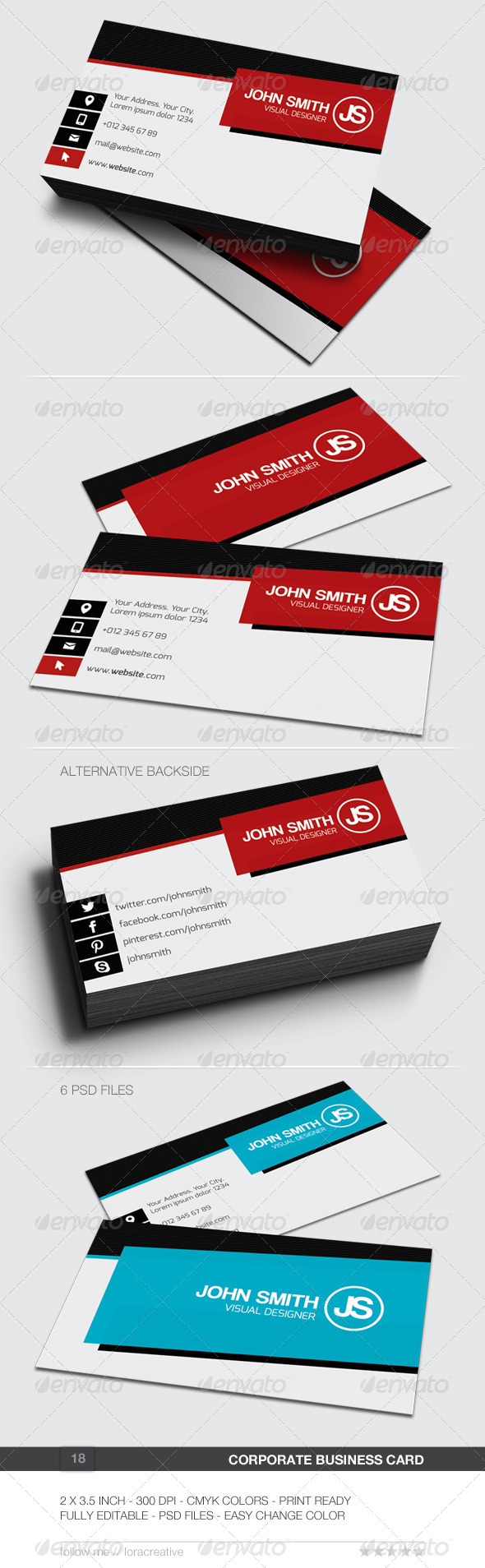GraphicRiver Corporate Business Card 18 6202054