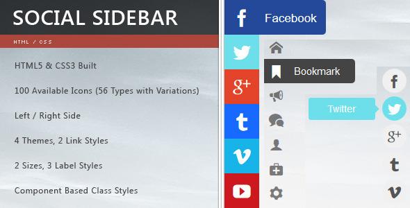 CodeCanyon CSS3 Social Sidebar 6202061