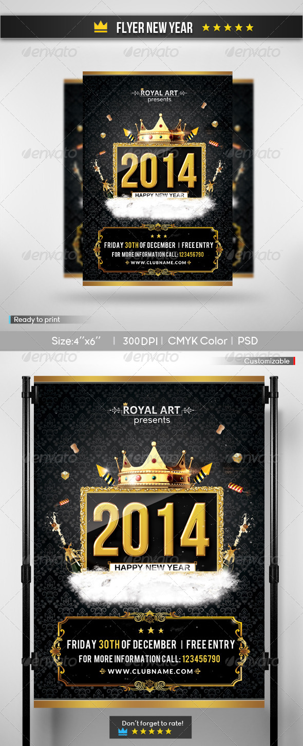 GraphicRiver Flyer New Year 2 6169533