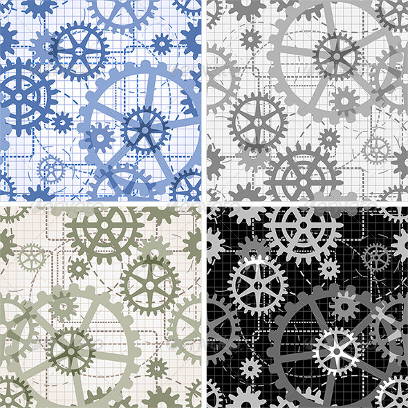 GraphicRiver Seamless Gears Pattern 6202151