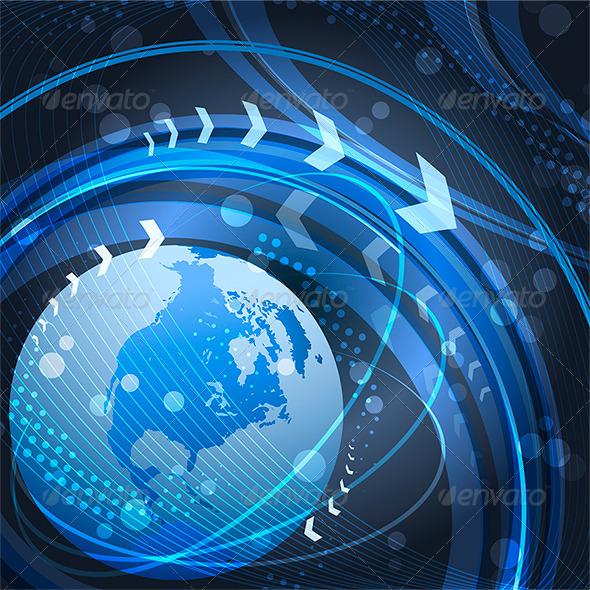 GraphicRiver Globe in Blue 6202267