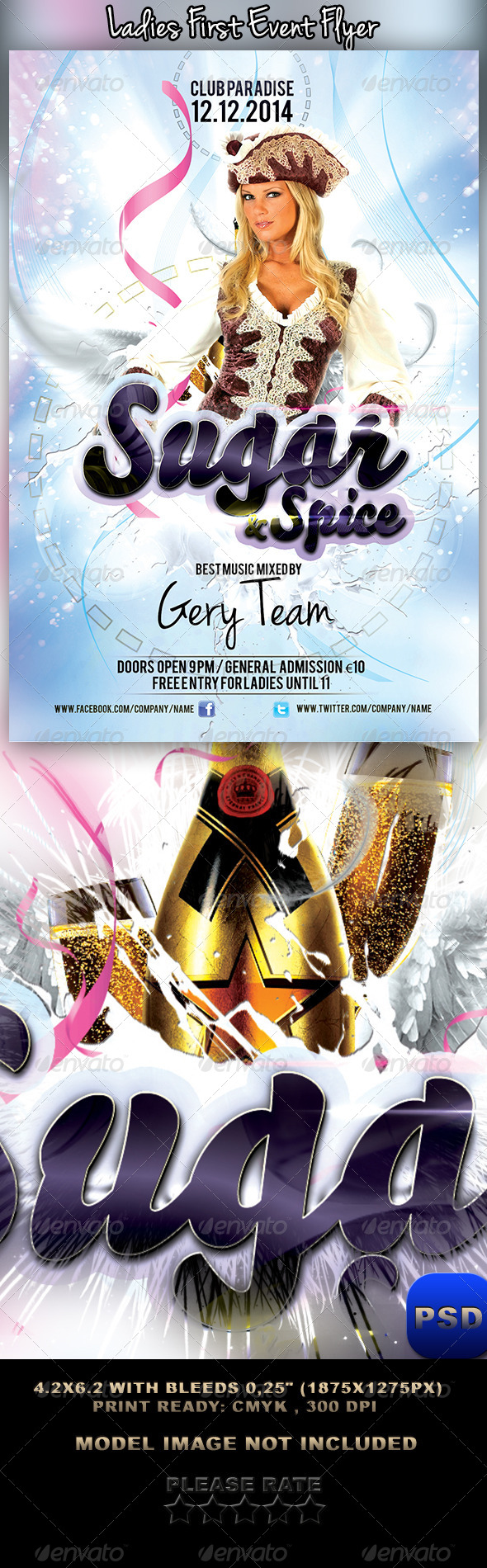 GraphicRiver Ladies First Event Flyer 6202286