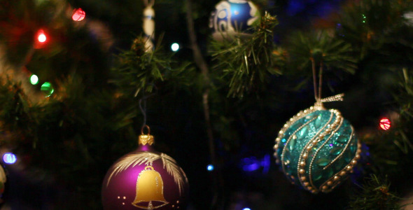 Toys On The Christmas Tree