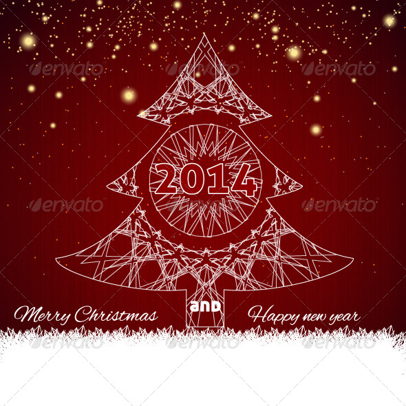 GraphicRiver Merry Christmas Tree 6201677