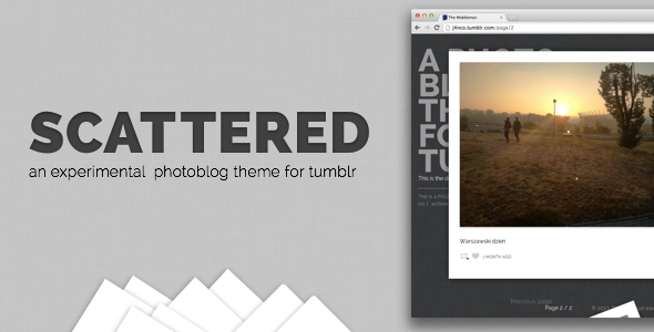 Scattered - A Unique Photography Theme for Tumblr