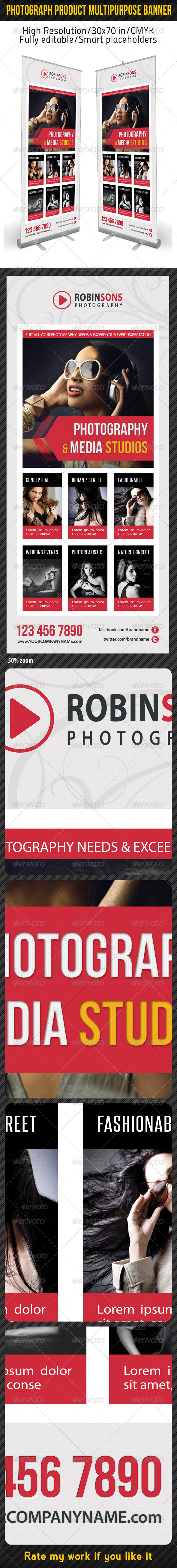 Photograph Product Multipurpose Banner 07 - Signage Print Templates