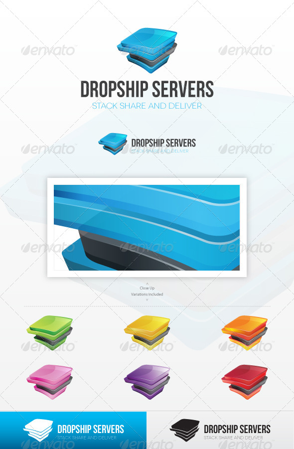 Dropship Servers Logo - Abstract Logo Templates