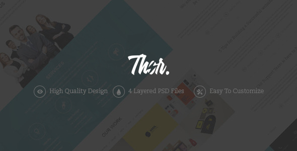 ThemeForest Thor One Page Portfolio PSD Template 6193577