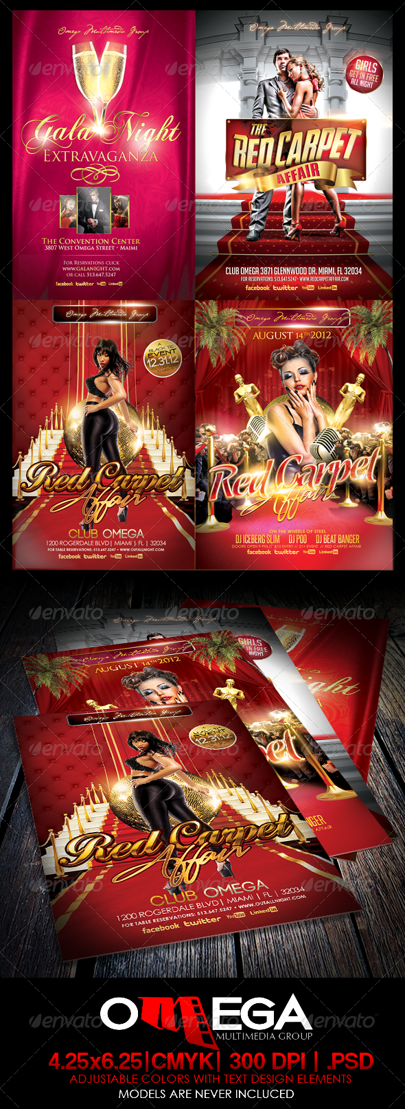 GraphicRiver The Red Carpet Bundle 6203004