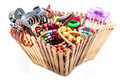 A basket of  fashion accessories  of woman - PhotoDune Item for Sale