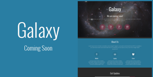Galaxy - Responsive Coming Soon Template