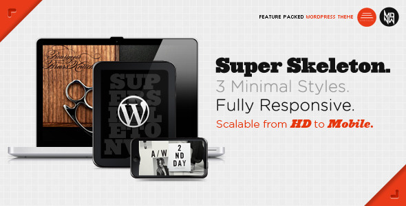 10 Best Responsive Wordpress Themes - Super Skeleton Theme