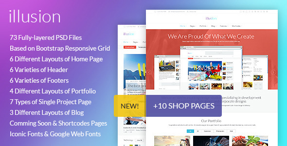 illusion - Premium PSD Template - Corporate PSD Templates