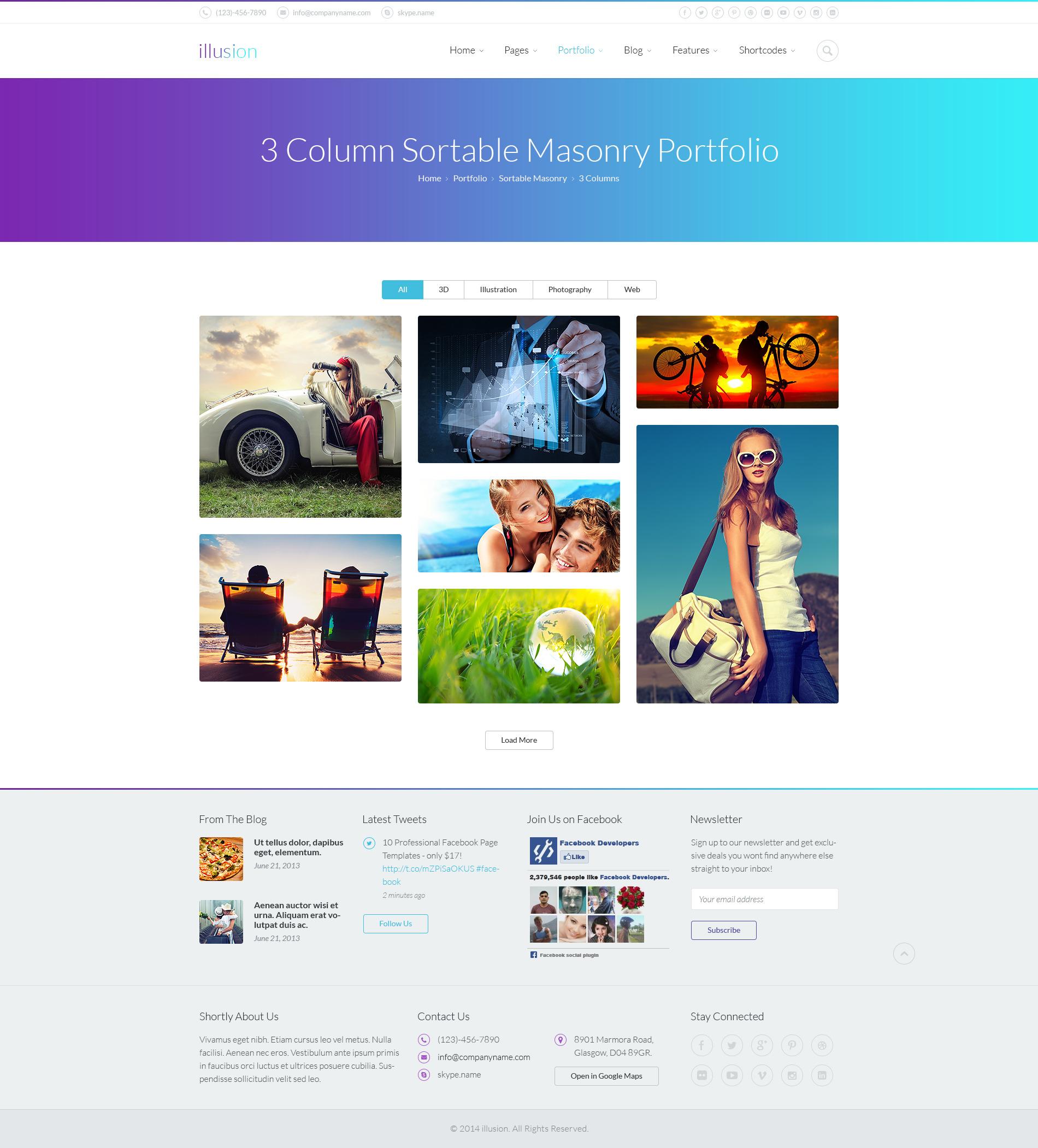 illusion - Premium PSD Template