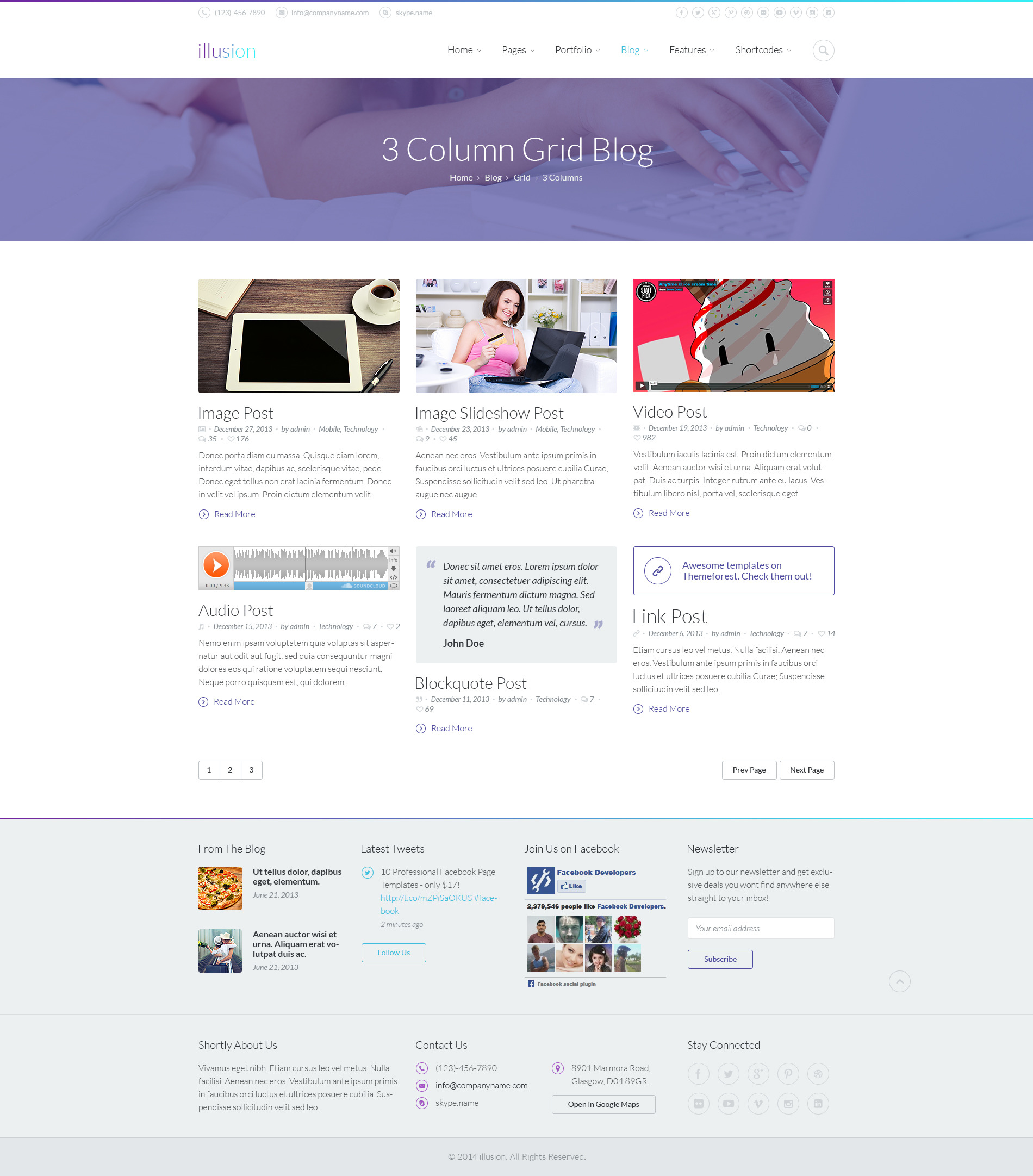 illusion - Premium PSD Template