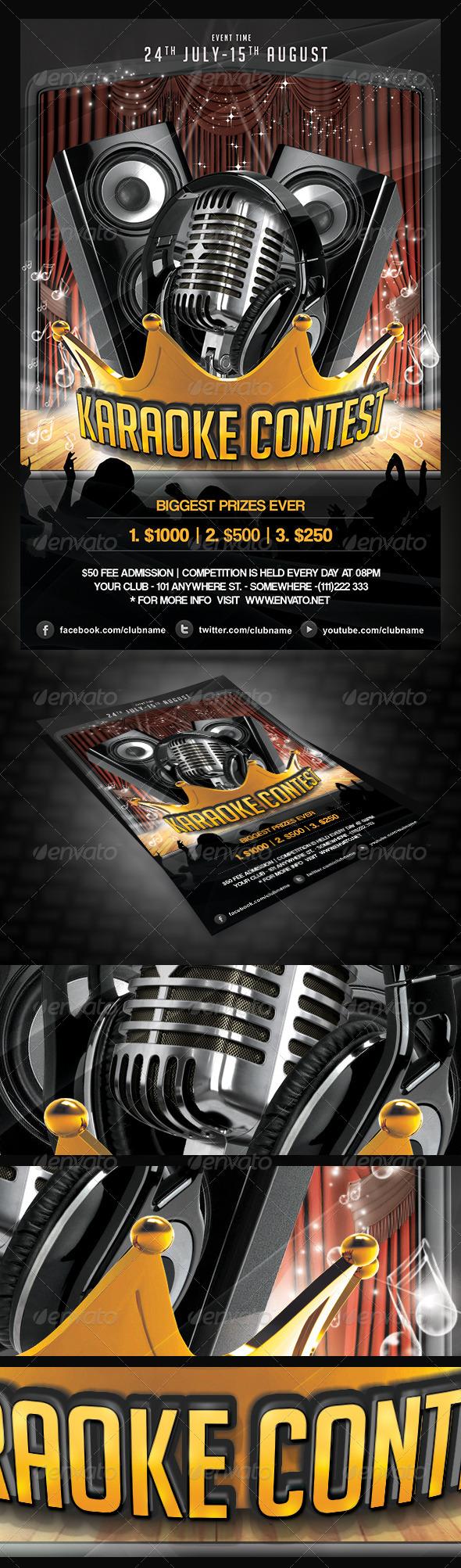 Karaoke Contest Flyer - Events Flyers