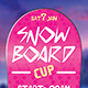 Snowboard Cup Flyer - GraphicRiver Item for Sale