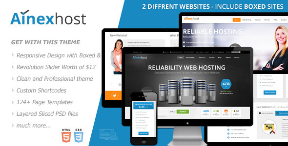ThemeForest Ainex Host Responsive Hosting Template 6181564