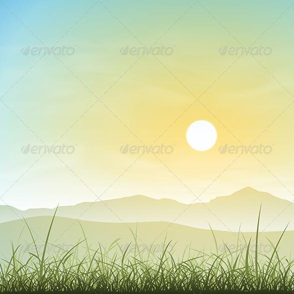 GraphicRiver Misty Landscape 6204241