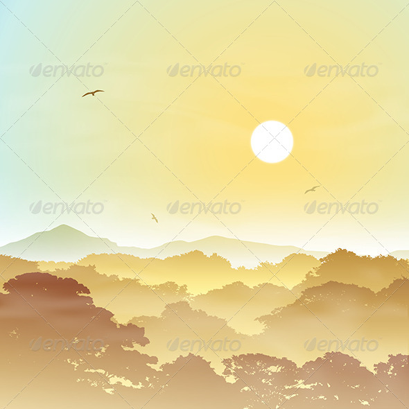 GraphicRiver Forest Landscape 6204243