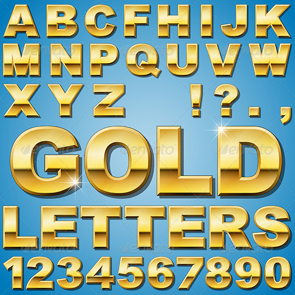 GraphicRiver Gold Letters 6204283
