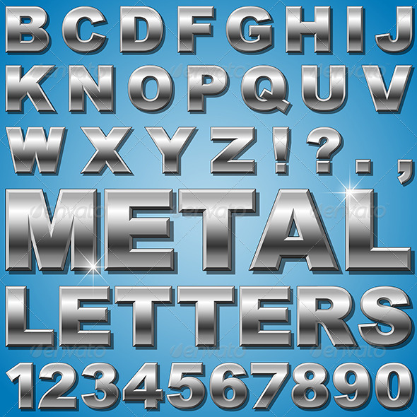 GraphicRiver Metal Letters 6204285