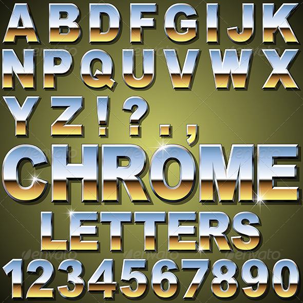 GraphicRiver Chrome Letters 6204287