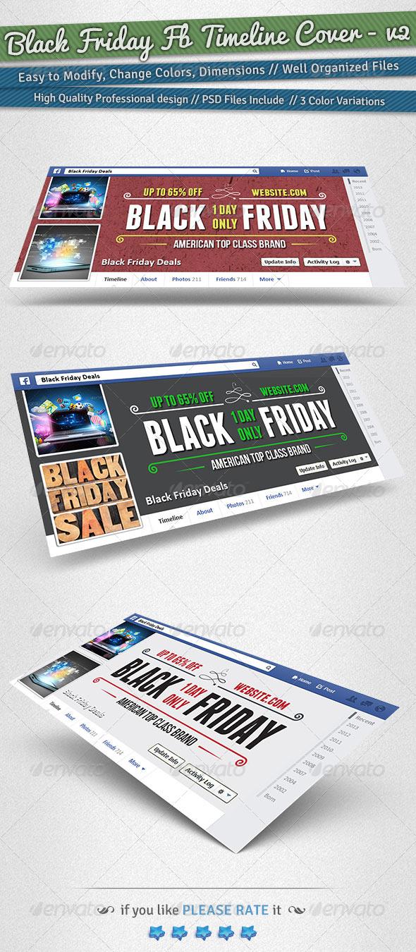 GraphicRiver Black Friday Facebook Timeline Cover Volume 2 6204290