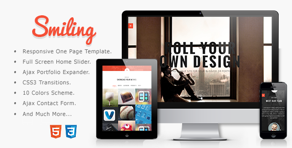 ThemeForest Smiling Responsive Parallax One Page Template 6185323
