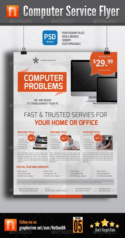 GraphicRiver Computer Service Flyer V5 6204394